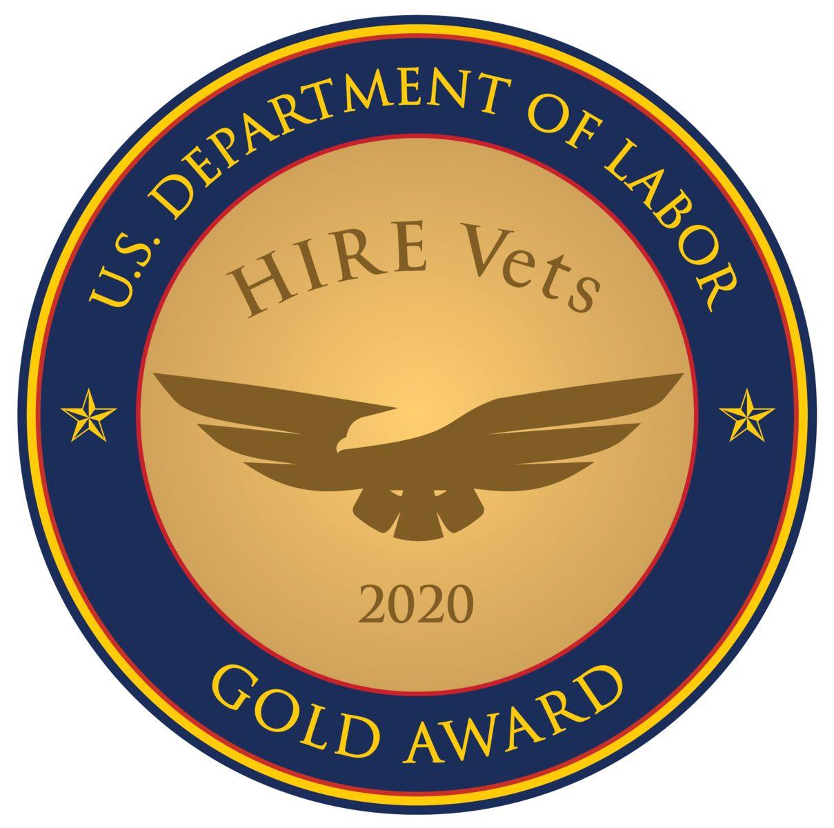 2020 HIRE Vets Gold Medallion Award