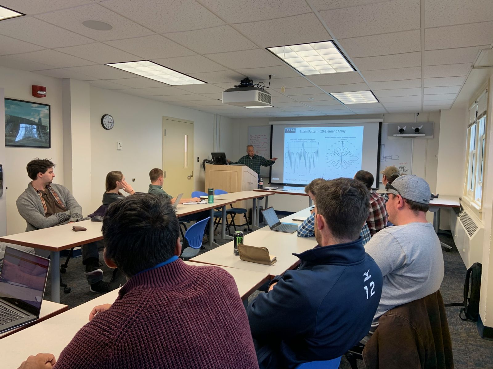 ThayerMahan employees attending an acoustic course taught by UCONN's Dr. Frank Chan
