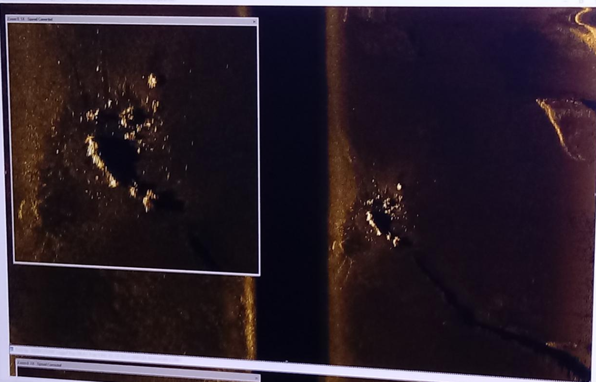 Sea Bottom Imagery of the sea floor debris field consisting of the remains of the Argentinian submarine San Juan, located by Ocean Infinity in November 2018.